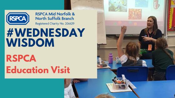 #WednesdayWisdom RSPCA Education Visit